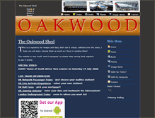 Tablet Preview of oakwood-shed.co.uk